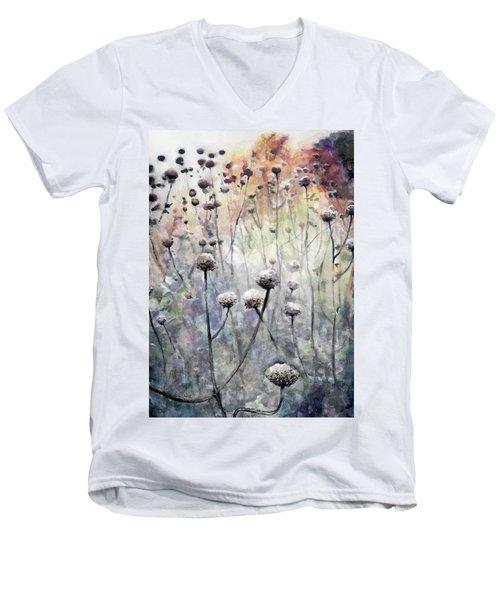 November Men's V-Neck T-Shirt by Arleana Holtzmann