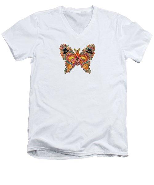November Butterfly Men's V-Neck T-Shirt