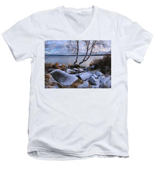 November Day Men's V-Neck T-Shirt by Vladimir Kholostykh