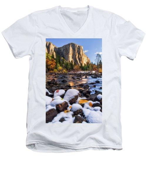 November Morning Men's V-Neck T-Shirt by Anthony Michael Bonafede