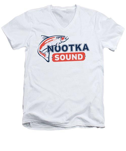 Ns Logo #2 Men's V-Neck T-Shirt by Nootka Sound