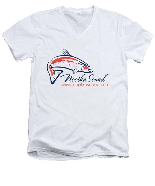 Ns Logo #4 Men's V-Neck T-Shirt by Nootka Sound