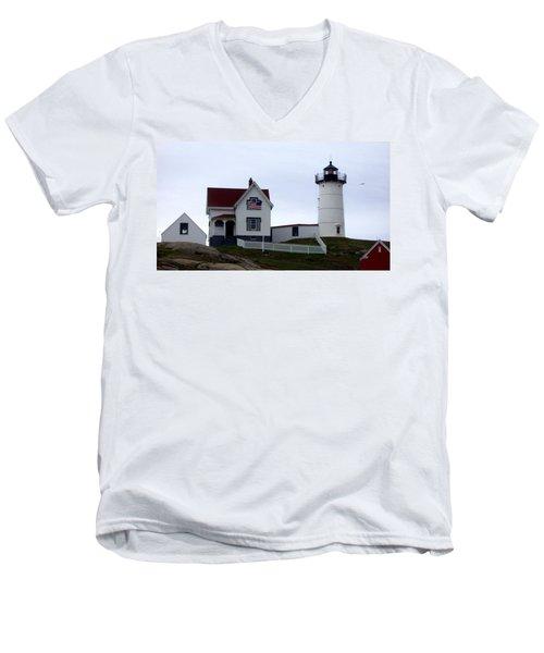 Nubble Light Men's V-Neck T-Shirt by Kevin Fortier