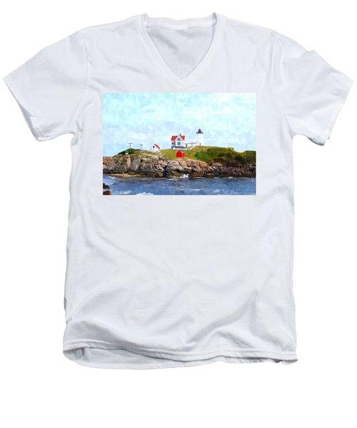 Nubble Light Nlwc Men's V-Neck T-Shirt