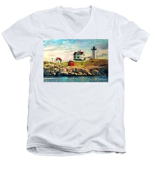Nubble Light - Painted Men's V-Neck T-Shirt