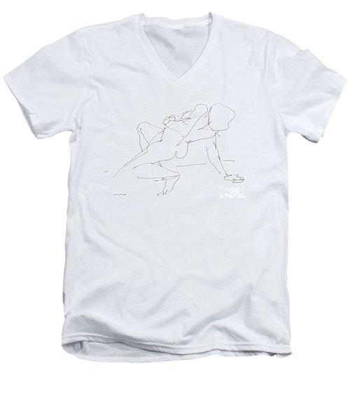 Nude-female-drawing-17 Men's V-Neck T-Shirt