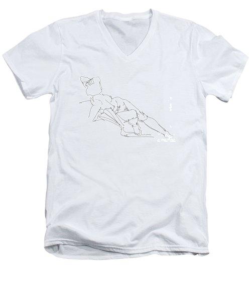 Nude Female Drawings 3 Men's V-Neck T-Shirt