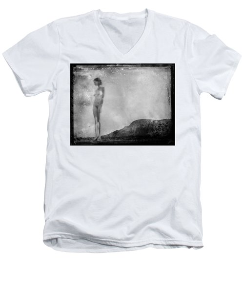 Nude On The Fence, Galisteo Men's V-Neck T-Shirt