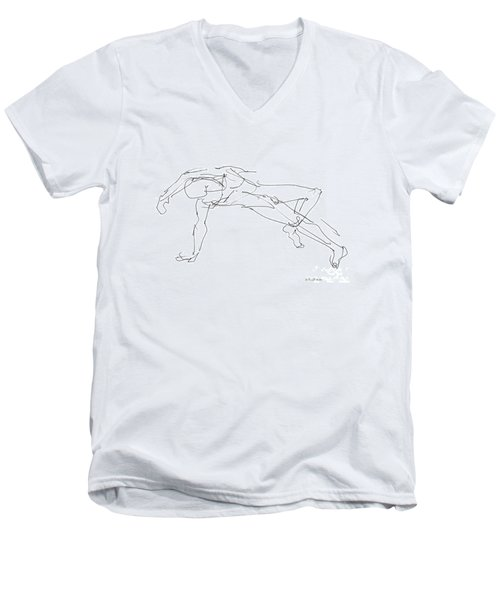 Nude_male_drawings_23 Men's V-Neck T-Shirt