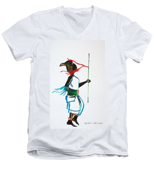 Nuer Dance - South Sudan Men's V-Neck T-Shirt
