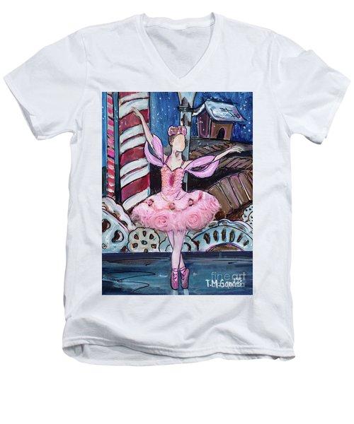 Nutcracker Sugar Plum Fairy Men's V-Neck T-Shirt