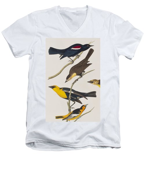 Nuttall's Starling Yellow-headed Troopial Bullock's Oriole Men's V-Neck T-Shirt