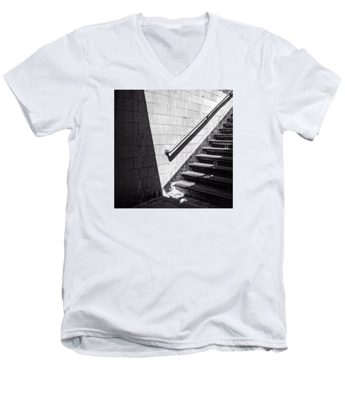 Ny Subway Stairs Men's V-Neck T-Shirt