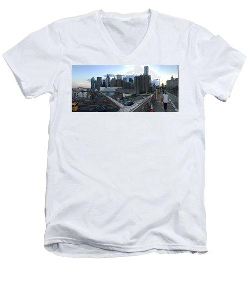 NYC Men's V-Neck T-Shirt by Ashley Torres