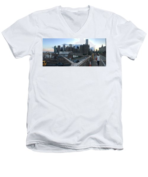 NYC Men's V-Neck T-Shirt