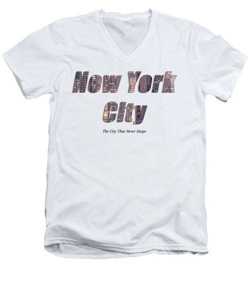 Nyc T-shirt Men's V-Neck T-Shirt