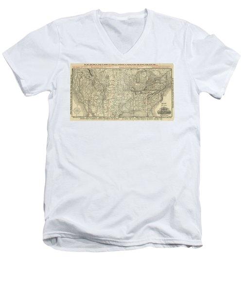 O And M Map Men's V-Neck T-Shirt