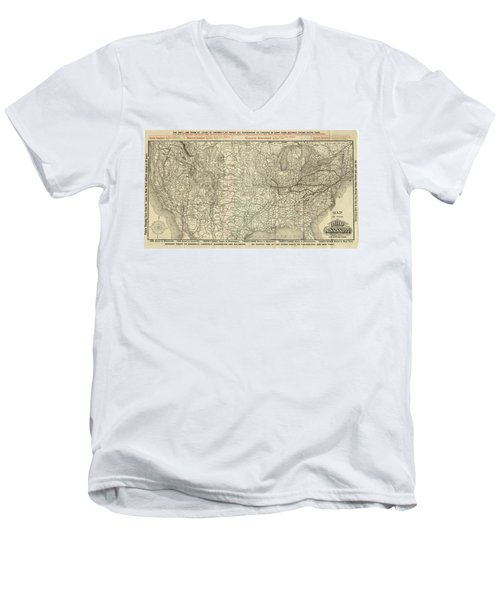 O And M Map Men's V-Neck T-Shirt