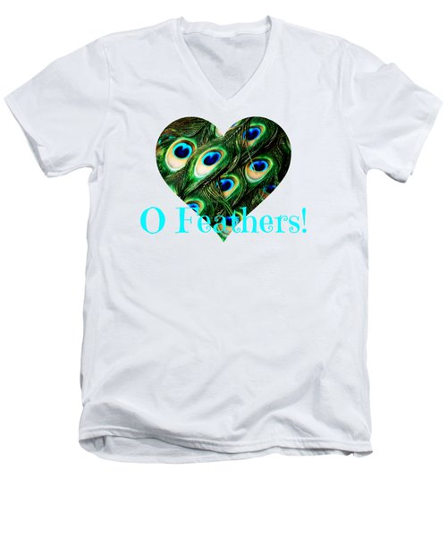 O Feathers Men's V-Neck T-Shirt