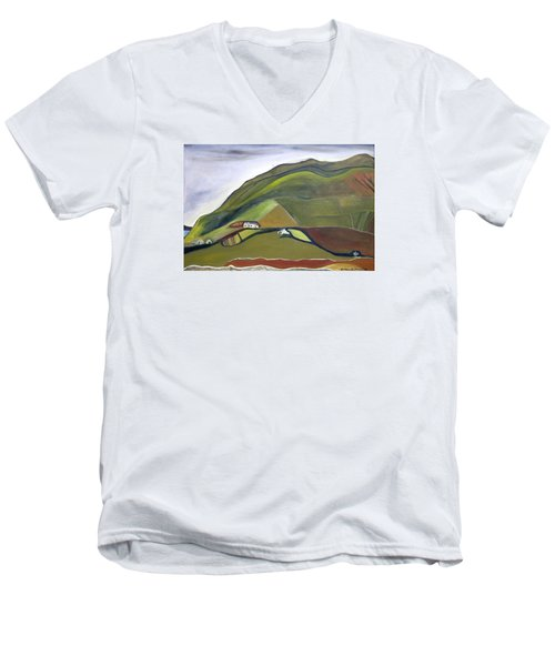 O Mountains That You Skip Men's V-Neck T-Shirt