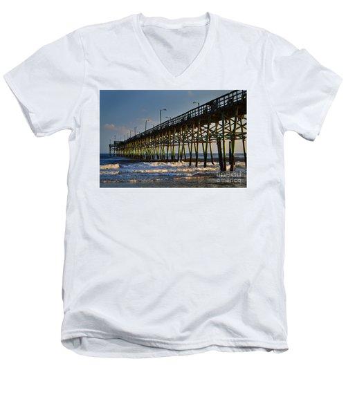 Oak Island Pier 2015 Men's V-Neck T-Shirt