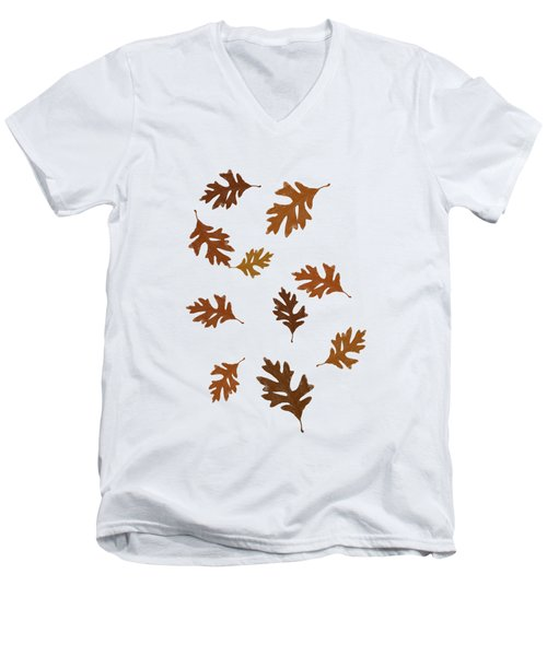 Oak Leaves Art Men's V-Neck T-Shirt by Christina Rollo
