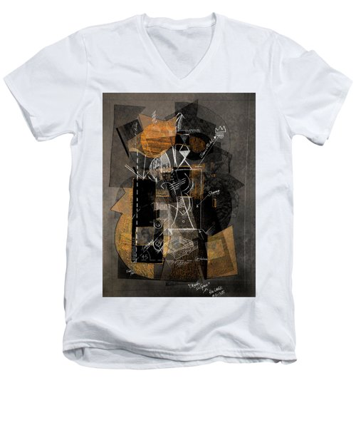 Objects In Space With Ochre Men's V-Neck T-Shirt