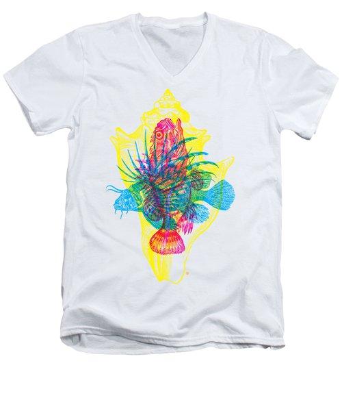 Ocean Creatures Men's V-Neck T-Shirt