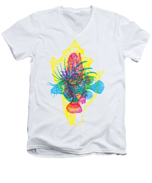 Ocean Creatures Men's V-Neck T-Shirt