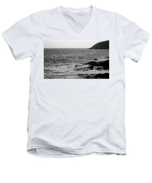 Men's V-Neck T-Shirt featuring the photograph Ocean Drive by Greg DeBeck