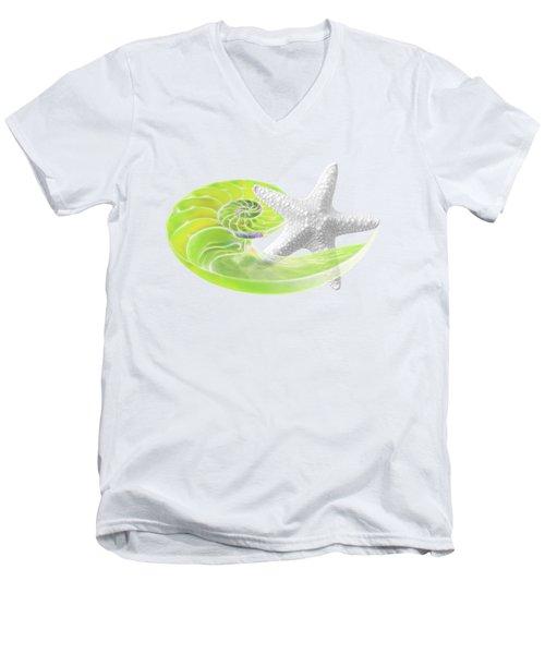 Ocean Fresh Men's V-Neck T-Shirt by Gill Billington
