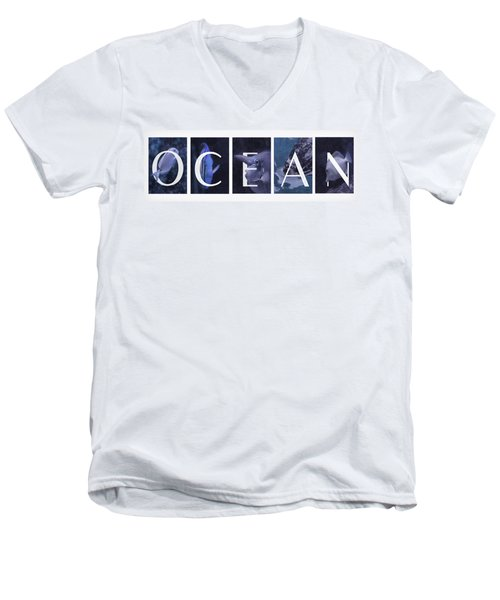 Men's V-Neck T-Shirt featuring the photograph Ocean by Robin-Lee Vieira