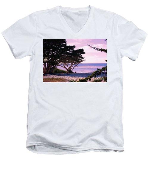 Ocean Views From Carmel Beach  Men's V-Neck T-Shirt