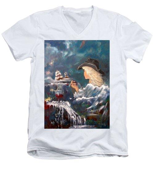 Ocean Wine Men's V-Neck T-Shirt