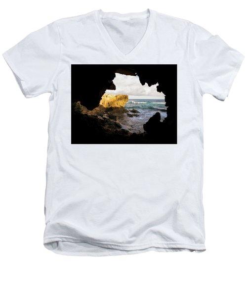 Oceanfront Cave Men's V-Neck T-Shirt