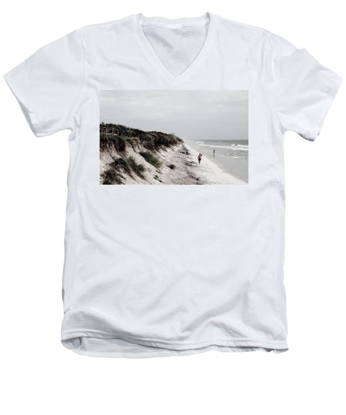 Oceanside Men's V-Neck T-Shirt by Amar Sheow