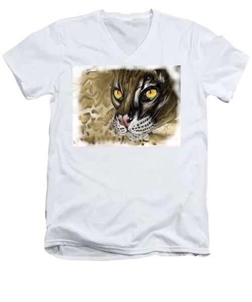 Ocelot Men's V-Neck T-Shirt