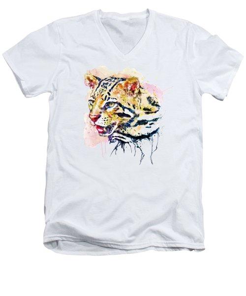 Ocelot Head Men's V-Neck T-Shirt