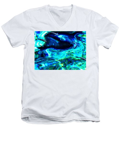 Men's V-Neck T-Shirt featuring the photograph Ocean Reflections  by Colette V Hera  Guggenheim