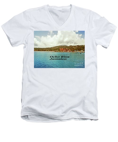 Men's V-Neck T-Shirt featuring the photograph Ocho Rios Jamaica by Gary Wonning