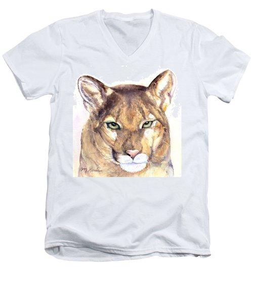 October Lion Men's V-Neck T-Shirt