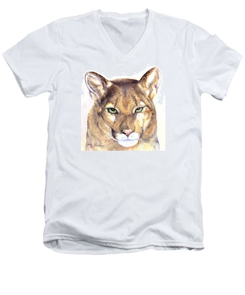 October Lion Men's V-Neck T-Shirt