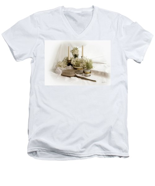 Men's V-Neck T-Shirt featuring the photograph Of Days Past by Ann Lauwers