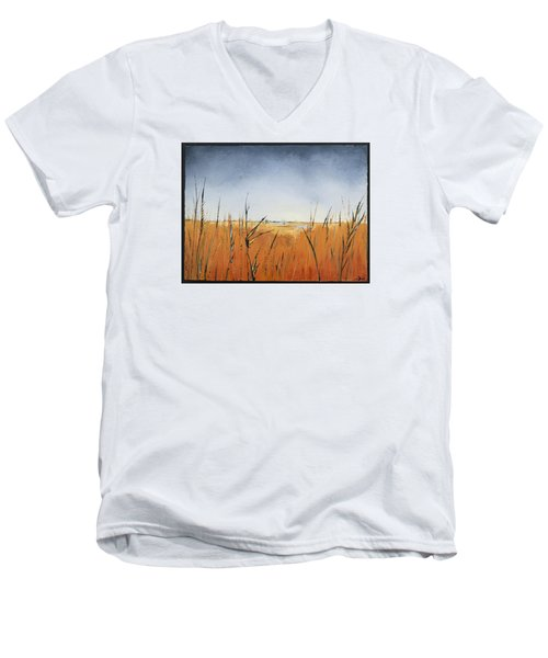 Of Grass And Seed Men's V-Neck T-Shirt by Carolyn Doe