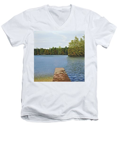 Off The Dock Men's V-Neck T-Shirt by Kenneth M  Kirsch