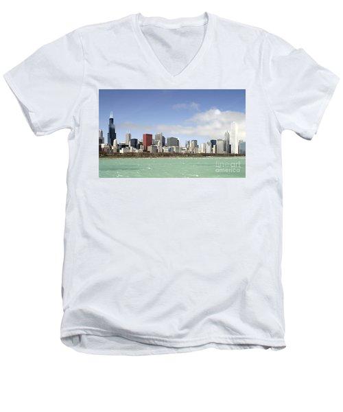 Off The Shore Of Chicago Men's V-Neck T-Shirt