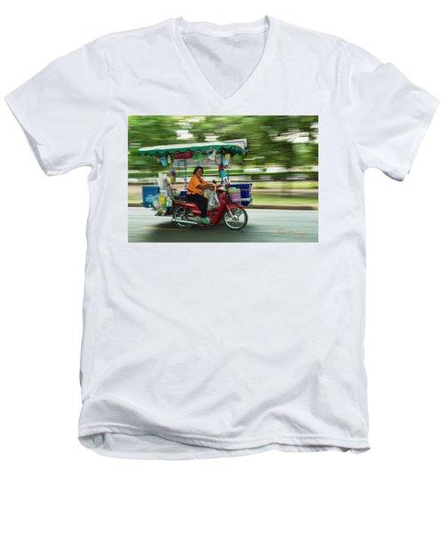 Off To Work Men's V-Neck T-Shirt