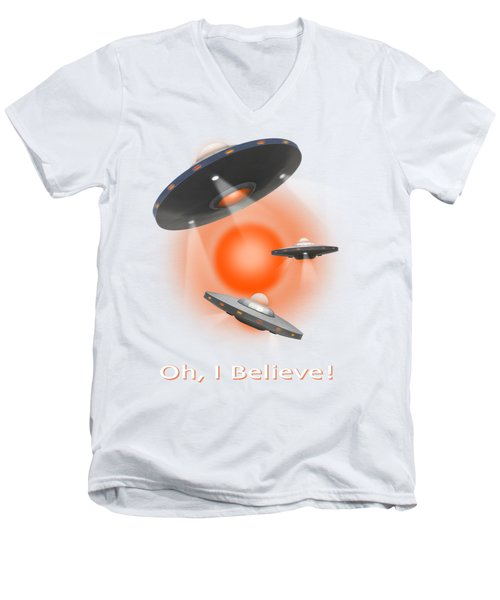 Oh I Believe  Se Men's V-Neck T-Shirt