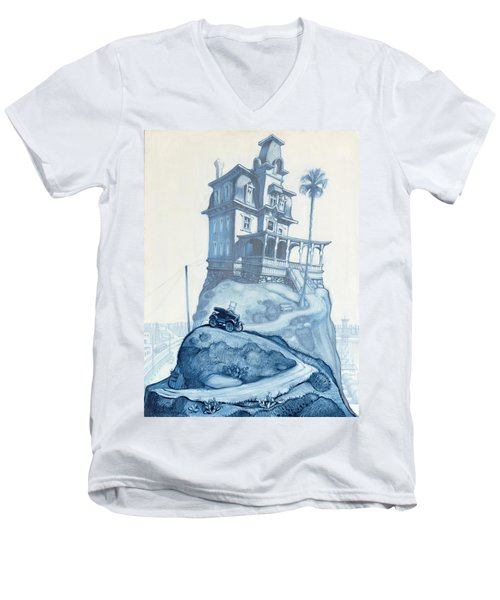 Oil Fields And Orchards Men's V-Neck T-Shirt