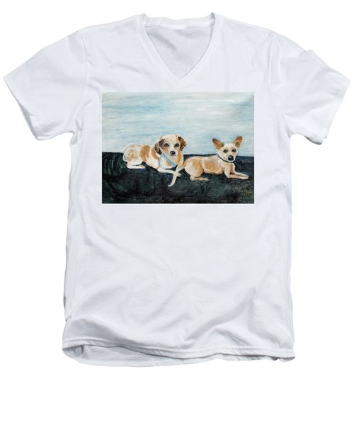 Oil Painting Men's V-Neck T-Shirt